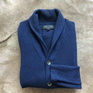 Rag & Bone Avery Shawl Collar Knit Cardigan in Navy